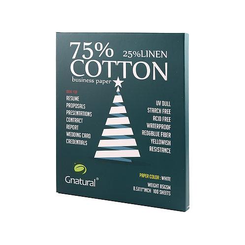 85gsm 75/25 cotton & linen paper ( white ) - No.MCYT006