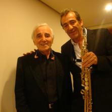 Avec Charles Aznavour (Rome)