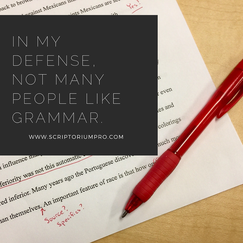 Quote over a paper with edit marks with a red pen.