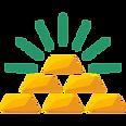 Reaching business development goal, gold icon