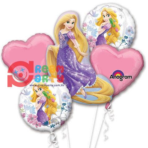 Princess Rapunzel Helium Balloon Bouquet - bq06