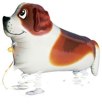 """18"""" Labrador Dog Walking Pet Helium Balloon - wp04"""