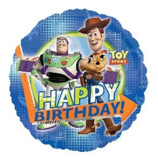 """18"""" Toy Story Woody & Buzz HBD Helium Balloon - t02"""