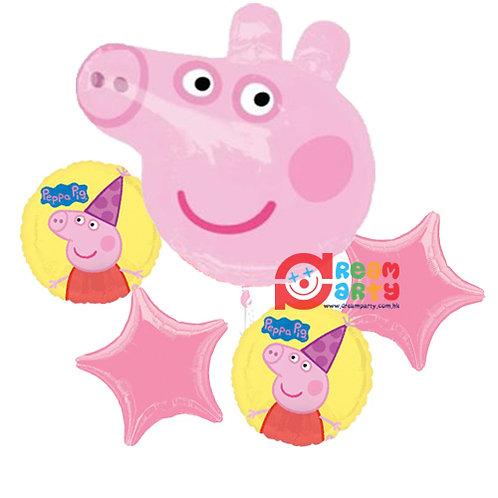 Peppa Pig Head Helium Balloon Bouquet - bq40