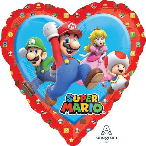 "18"" Heart Shape Super Mario Helium Balloon - y69"