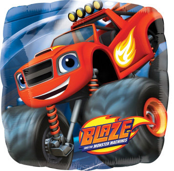 """18"""" Square Shape Blaze and the Monster Machines Blaze Helium Balloon - y123"""