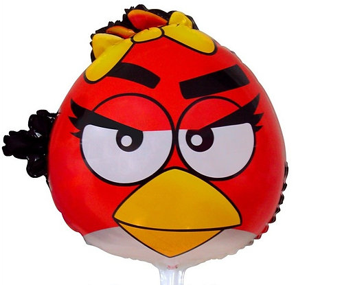 "18"" Angry Bird Girl Red Helium Balloon - ab04"
