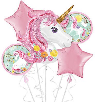 Unicorn with Star Balloon Helium Balloon Bouquet - bq44