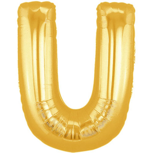 "14"" Gold Letter Balloon U - 14GU"