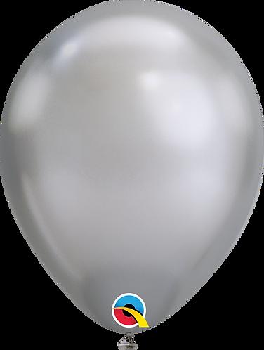 """11"""" Chrome Latex Balloon - Chrome Silver"""