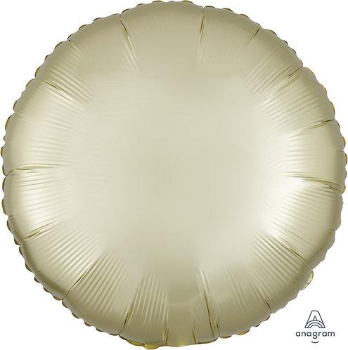"""18"""" Satin Luxe Round Foil Balloon - Pastel Yellow"""