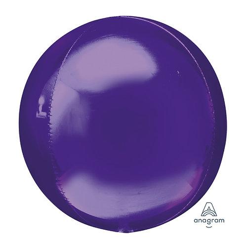 """16"""" Orbz Sphere Shape Balloon - Purple"""