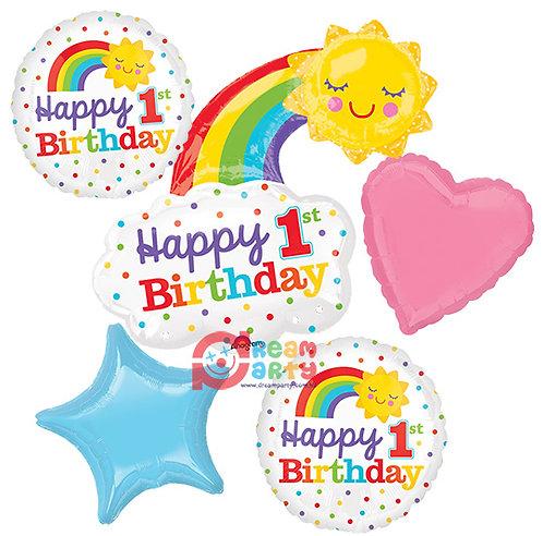 Happy 1st Birthday Helium Balloon Bouquet - bq55