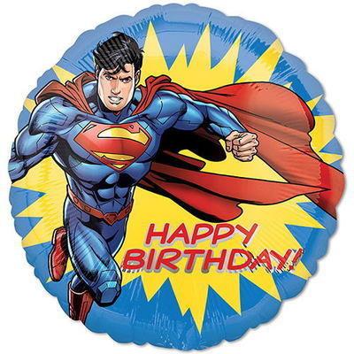 """18"""" Superhero Superman HBD Helium Balloon - s23"""