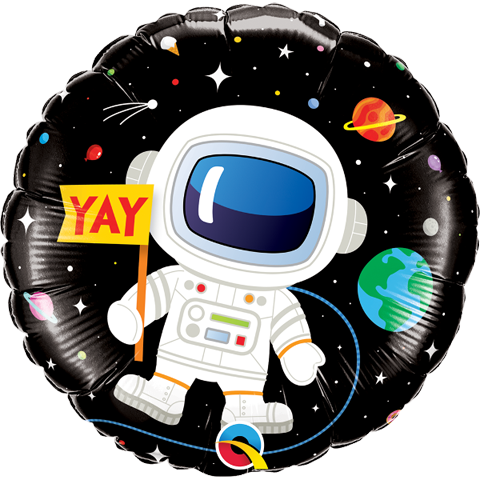"""18"""" Astronaut in the Space Helium Balloon - y127"""