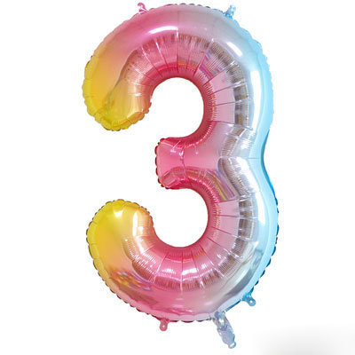 """40"""" Fantasy Colour Number Helium Balloon 3 - 40F3"""