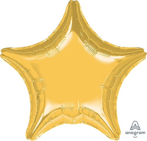 "19"" Star Foil Balloon -  Metallic Gold"
