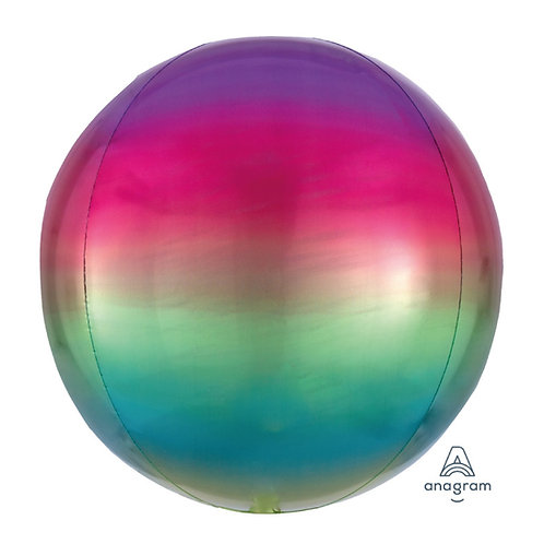 "16"" Orbz Sphere Shape Balloon - Rainbow1"
