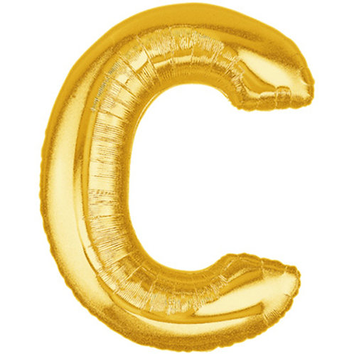 "40"" Gold Letter Helium Balloon C - 40GC"