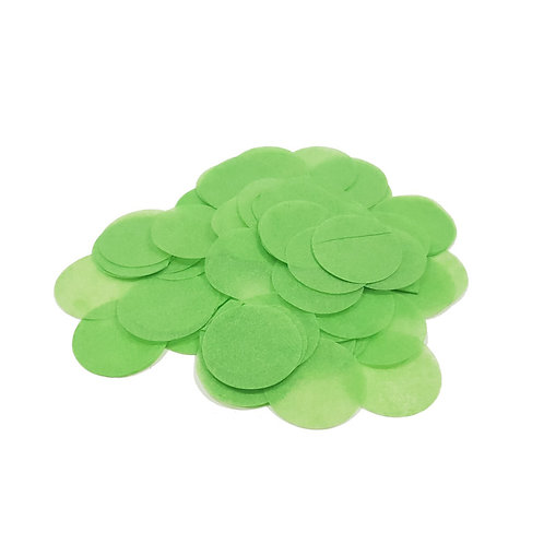 30gram Mini Paper Round Confettis (2.5cm) - Leave Green