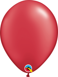 "11"" Pearl Latex Balloon - Pearl Ruby Red"