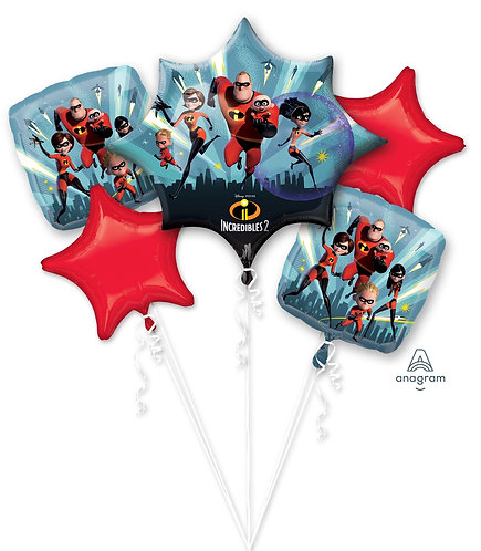 Incredibles Family Helium Balloon Bouquet - bq48