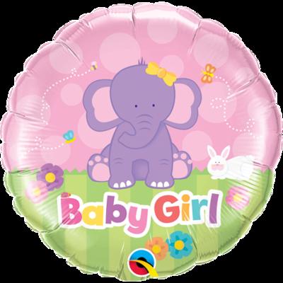 "18"" Baby Girl Cute Pink Elephant Helium Balloon - bb77"
