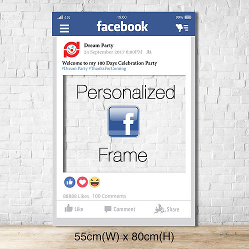 Personalized Facebook Frame - Small size