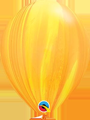 "11"" Agate Latex Balloon - Yellow Orange SuperAgate"