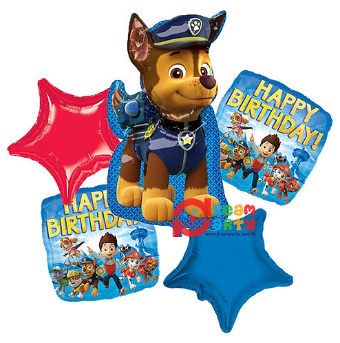 Paw Patrol Chase Helium Balloon Bouquet - bq53