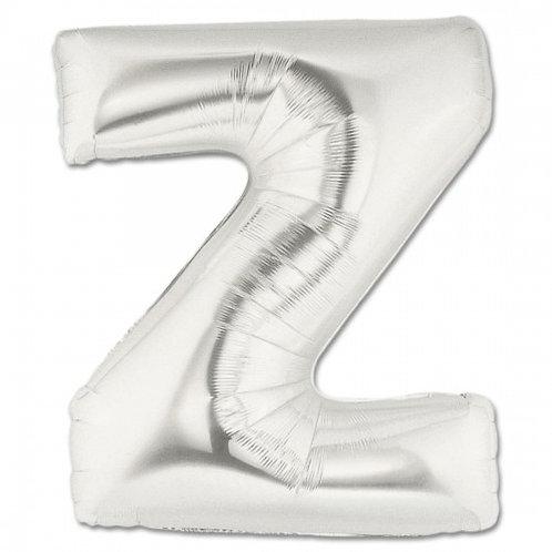 "14"" Silver Letter Balloon Z - 14SZ"