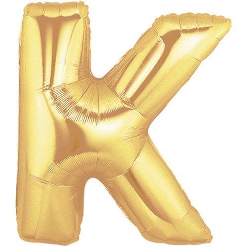 """14"""" Gold Letter Balloon K - 14GK"""