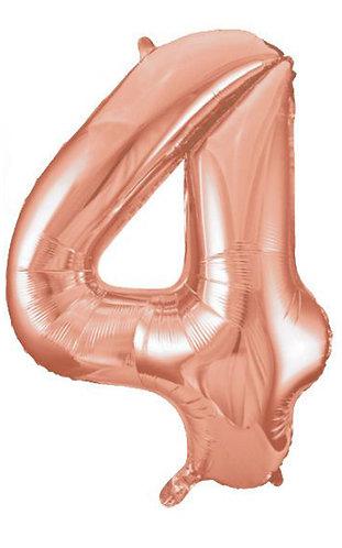"40"" Rose Gold Number Helium Balloon 4 - 40RG4"