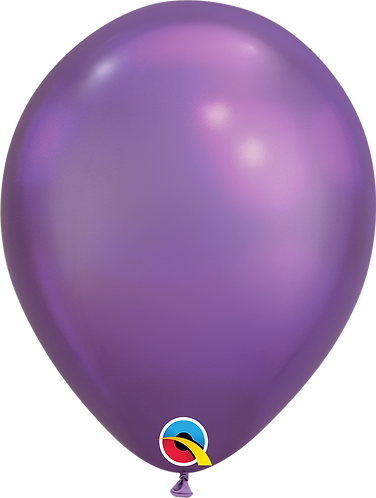"11"" Chrome Latex Balloon - Chrome Purple"