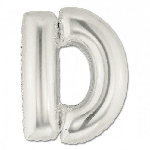 """14"""" Silver Letter Balloon D - 14SD"""