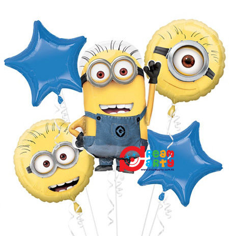Minions Helium Balloon Bouquet - bq35