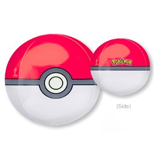 "16"" Sphere Shape Pokemon Poke Ball Helium Balloon - y79"