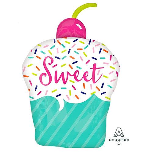 """30"""" Sweet Cherry Cupcake Helium Balloon - hb69"""