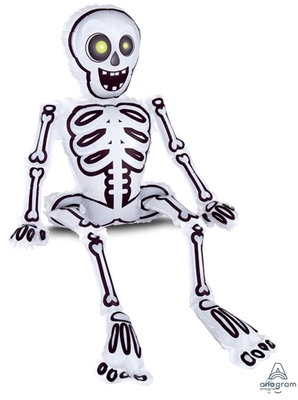 "40"" Skeleton Sitting Halloween Helium Balloon - hw12"