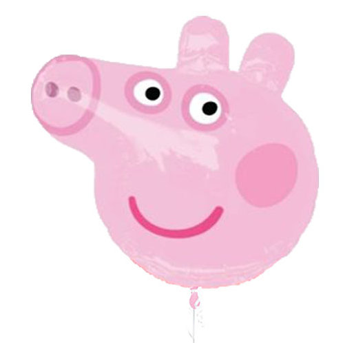 "30"" Peppa Pig Head Helium Balloon - y90"