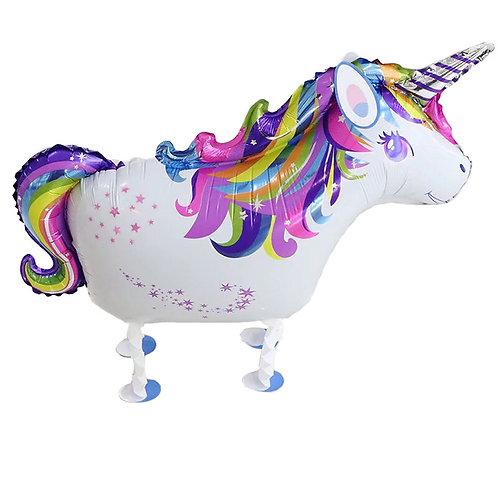 "18"" Unicorn Walking Pet Helium Balloon - wp23"