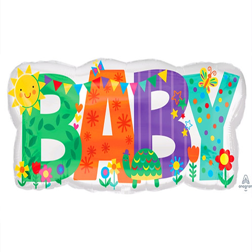 """30"""" Baby Shower Party Flags Helium Balloon - bb56"""