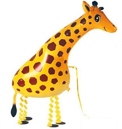 "18"" Giraffe Walking Pet Helium Balloon - wp09"