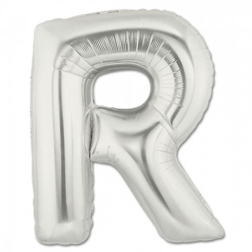 "40"" Silver Letter Helium Balloon R - 40SR"