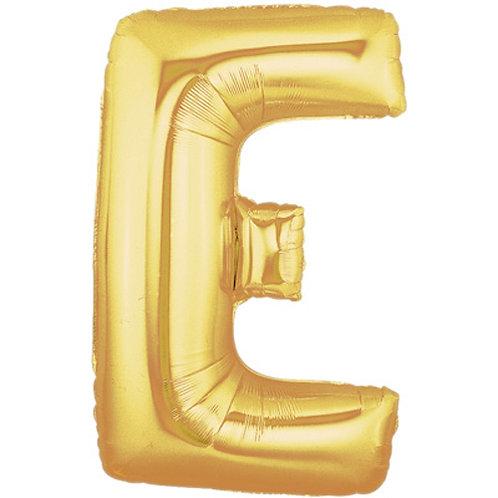 "14"" Gold Letter Balloon E - 14GE"