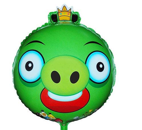 "18"" Angry Bird Pigs Helium Balloon - ab07"