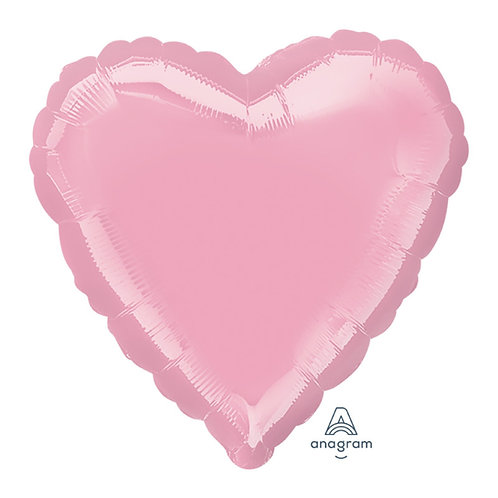 "32"" Giant Heart Foil Balloon - Metallic Pearl Pastel Pink"