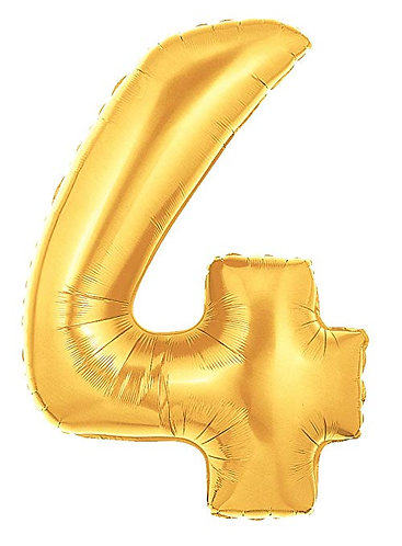 "14"" Gold Number Balloon 4 - 14G4"