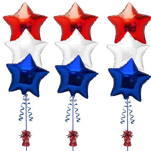 9 Stars Helium Balloon Bouquet - bq12