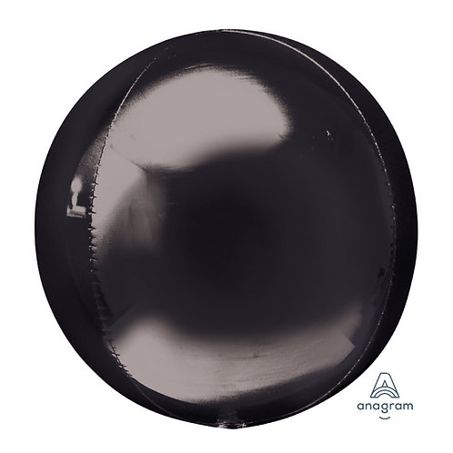 "16"" Orbz Sphere Shape Balloon - Black"